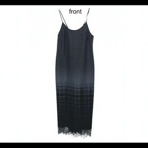 Clover Canyon Houndstooth-Plaid Strap Long Dress